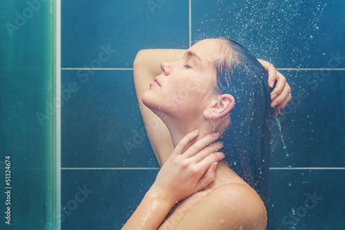 Beauty under shower