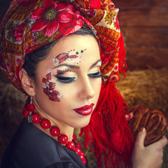 Portrait of a Russian beauty Solokha