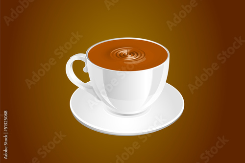 The hot coffee cup