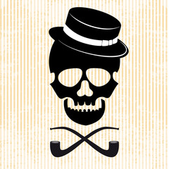Hipster skull graphic background