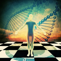 Time is Up! Abstract environmental backgrounds with human DNA