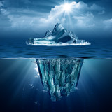 Fototapety Iceberg. Abstract eco backgrounds for your design