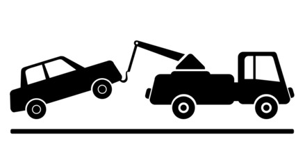 Abschleppen Schild Zeichen Icon Grafik
