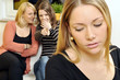 Junge Frau wird zum Mobbing-Opfer