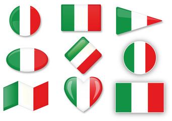 Italian set of flags