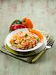 basmati rice with capsicum and shrimp