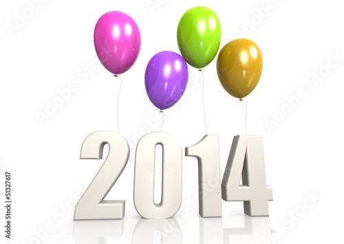2014 with balloon