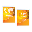 Vector orange business brochure/cover designs