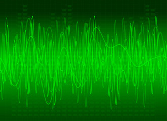 Abstract Green Sound Background