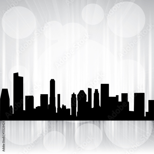 Vector white City Silhouette brochure - background design