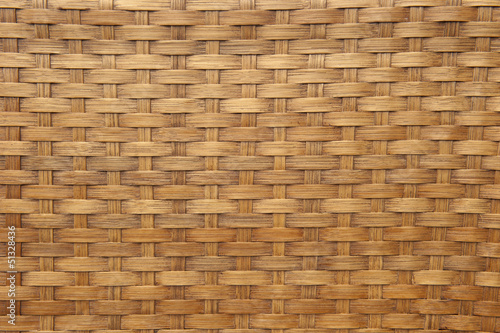 Background texture of light brown woven bamboo