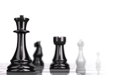Chessboard Strategic Business Concept