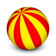 Vector red and yellow ball
