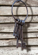 Ancient key ring, rustic