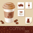 coffee cup with stickers