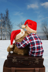 kind im Winter