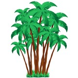 Palm Trees Group-Ciuffo di Palme in Gruppo-Vector