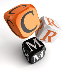 Crm orange black dice blocks