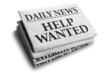 Help wanted daily newspaper headline