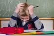überforderter schüler im unterricht