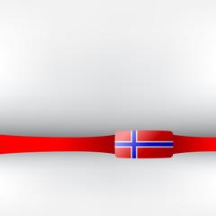 Banner in norwegischen Farben
