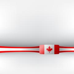 Banner in kanadischen Farben