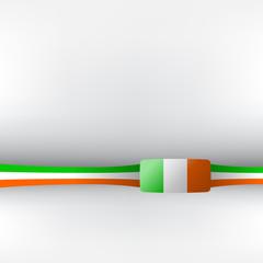Banner in irischen Farben