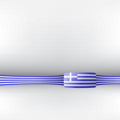 Banner in griechischen Farben