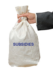 Bag with subsidies