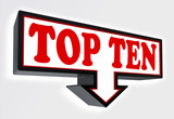 top ten red and black arrow sign