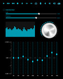 Abstract music web elements