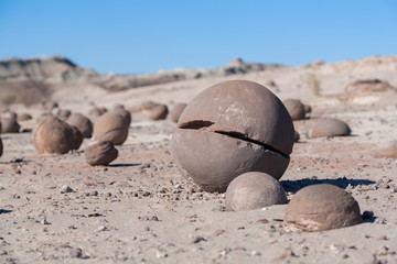 Round stones Ischigualasto National Park, San Juan, Argentina