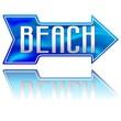 Beach Arrow Direction-Spiaggia Freccia Direzione-Vector