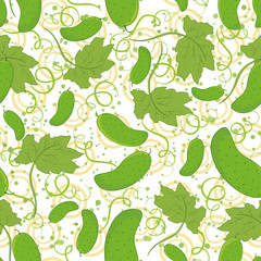 Seamless pattern, cucumbers