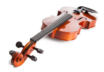 Close-up Of Vintage Violin