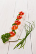 Antipasto di mozzarella e pomodorini