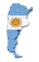 3D Map of Argentina