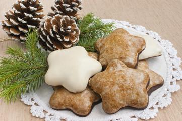 Christmas gingerbread cookies.