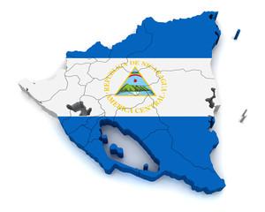 3D Map of Nicaragua
