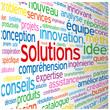 """Nuage de Tags """"SOLUTIONS"""" (idées réponses créativité innovation)"""