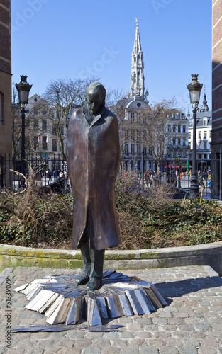 Fototapeta Bela Bartok Statue in Brussels