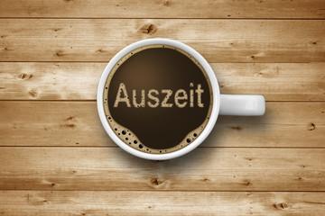 Kaffeetasse mit Auszeit