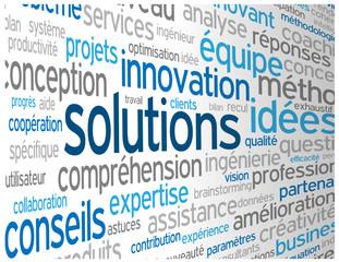"""Nuage de Tags """"SOLUTIONS"""" (idées créativité innovation équipe))"""
