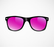 Pink Sunglasses vector illustration background