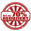 70% REDUZIERT Stempel, vektor