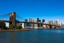 Pont de Brooklyn et Manhattan
