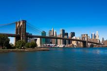 Fototapete - Brooklyn Bridge and Manhattan