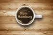 Kaffeetasse mit Moin Moin Hamburg