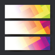 Collection of three colorful banner designs, vector illustration