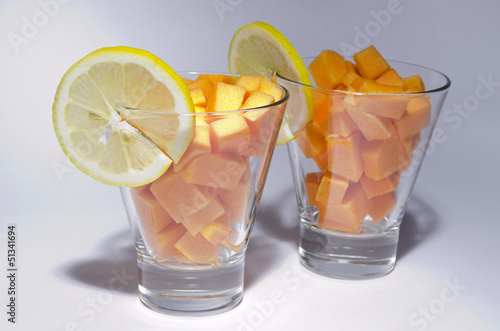 fruits in the glass